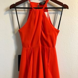 Bright Orange Flare Dress, Size 0